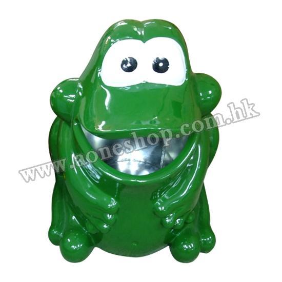 青蛙玻璃纤维垃圾桶
