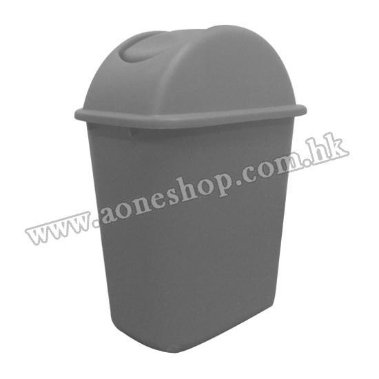 塑胶长方形摇盖垃圾桶