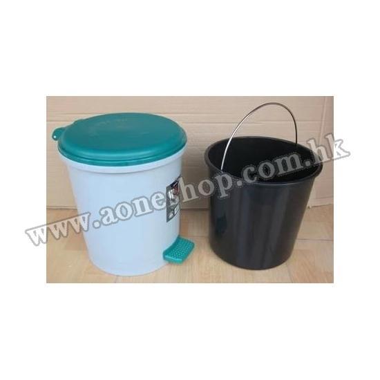 塑胶圆形脚踏垃圾桶