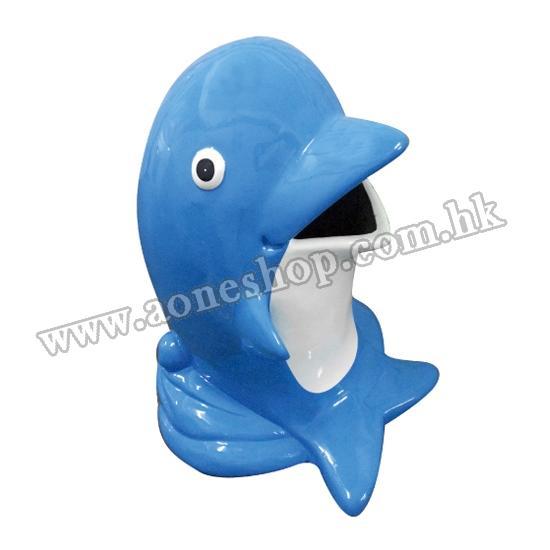 海豚玻璃纖維垃圾桶